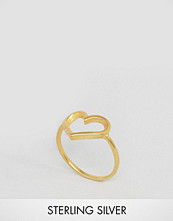 Dogeared Gold Plated Open Heart Reminder Ring
