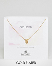 Dogeared Gold Plated Golden Open Pineapple Reminder Necklace