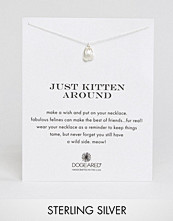 Dogeared Sterling Silver Just Kitten Around Reminder Necklace
