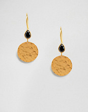 Ottoman Hands Hammered Disc Earrings