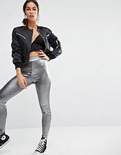 Boohoo Metallic Silver Leggings