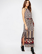 Sisley Printed Maxi Dress with Belt