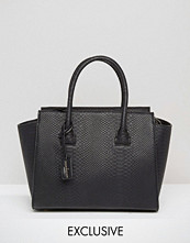 Paul's Boutique Exclusive Bethany Black Snake Structured Tote