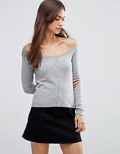 ASOS Cardigan In Fine Knit Off Shoulder Shape