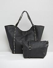 Yoki Fashion Studded Shopper Bag