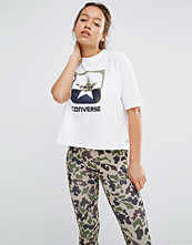 Converse High Neck T-Shirt With Camo Star Logo
