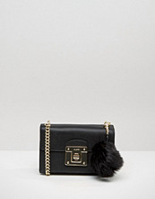 ALDO Cross Body With Faux Fur Pom Pom Detail