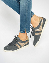 Gola Classic Bullet Trainers In Grey & Gold