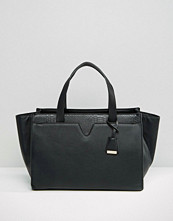 Glamorous Winged Tote Bag in Black