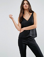 ASOS Satin Vest With Deep Plunge