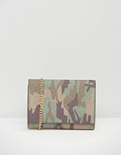 Missguided Camo Tassle Clutch Bag
