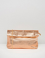 Missguided Metallic Clutch Bag