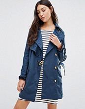Cooper & Stollbrand Asymmetric Trench Coat In Navy