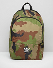 Adidas Originals Camo Print Backpack With Trefoil Logo
