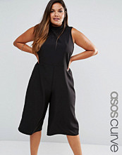 ASOS Curve Jumpsuit with Culotte Leg and High Neck