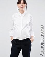 ASOS Maternity Smart Ruffle Front Shirt