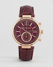 Michael Kors Purple Sawyer Leather Watch MK2580