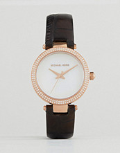 Michael Kors Black Leather Mini Parker Watch MK2591