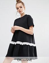 Reclaimed Vintage Sweat Dress With Hem Frill