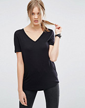 Asos Tall The New Forever T-Shirt With Short Sleeves and Dip Back