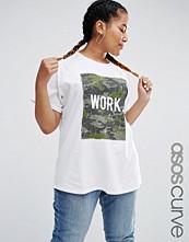 ASOS Curve Camo Work Boyfriend T-Shirt