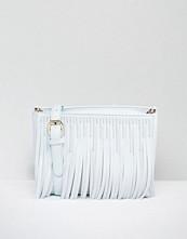 Skinnydip Grey Cross Body Bag with Fringing