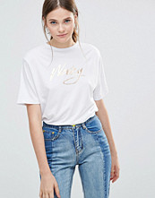 This Is Welcome Foil Logo Boyfriend T-Shirt