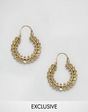 Reclaimed Vintage Ornate Hoop Earrings