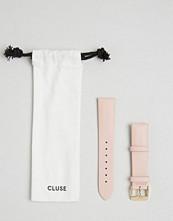 Cluse La Boheme Pink & Gold Leather Strap CLS024