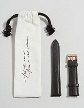 Cluse La Boheme Black & Rose Gold Leather Strap CLS001