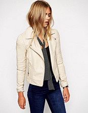 ASOS Faux Leather Biker Jacket With Structured Shoulder And Multi Stitch