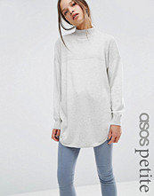 ASOS Petite Tunic Jumper With High Neck In Cashmere Mix