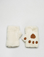 ASOS Faux Borg PalmwaRmer with Paw & Heart