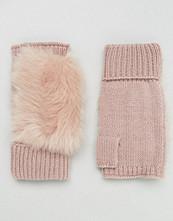 ASOS Faux Fur & Knit Palmwarmer