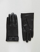 ASOS Leather Bow Gloves With Touch Screen