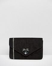 Carvela Clutch Bag With Jewel Embellishment