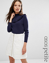 ASOS Petite Jumper with Ruffle Front