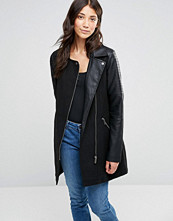 Brave Soul Wool Mix Biker Coat