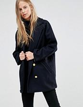 Ganni Malin Wool Double Breasted Pea Coat