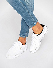 Puma White Leather Trainers With Speckle Sole