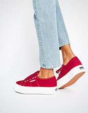 Superga Classic Platform Trainers In Red