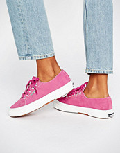 Superga Suede Plimsoll Trainers In Pink