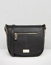 Dune Smooth Saddle Bag With Zip Detail