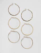 DesignB London Gold Multipack Hoops