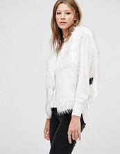 Jayley Luxurious White Faux Fur Gilet