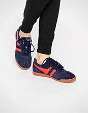 Gola Classic Harrier Trainers In Red & Navy
