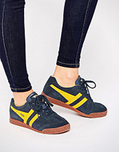 Gola Classic Harrier Trainers In Yellow & Navy