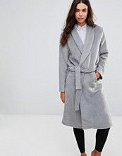Unique 21 Robe Coat With A Waist Tie Belt