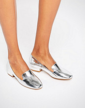 Glamorous Silver Metallic Slipper Shoes