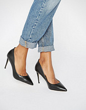 ALDO Joggins Black Leather Pointed Courts